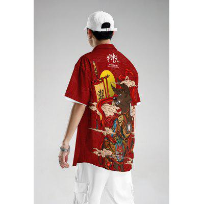 Higher Brothers 2020 Series Short Sleeve Shirt Big Size Loose Fashion Brand Clothes Chinese Fashion MensShirt