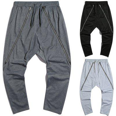 Men casual personality trousers sweatpants