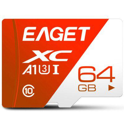 EAGET T1 SD Card 32GB/64GB/128GB Class 10 TF Memory High Speed Flash for Phones Tablet
