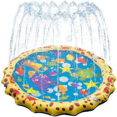 Summer outdoor PVC inflatable water spray pad grass beach toys flying saucer water games pad children inflatable pad