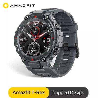Original Amazfit T-rex Smartwatch 5ATM Heat Cold Resistant MIL-STD Smart Watch GPS/GLONASS AMOLED Screen for iOS Android phone