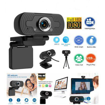 HD 1080P Webcam 30fps Manual focus Web Camera Desktop with Mic for Webcast Conference Cam For PC