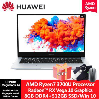 Huawei Honor Magicbook 14 inch Windows 10 Laptop AMD Ryzen 5 3500U/Ryzen 7 3700U 8GB/16GB DDR4 256GB/512GB SSD Notebook Slim Lightweight Computer Image