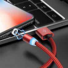 3 IN 1 Magnet  1M  USB Cable Mobile Phone Fast Charging USB Line Type C Cable Magnet Charger Micro USB Cable 8Pin Connector For Iphone