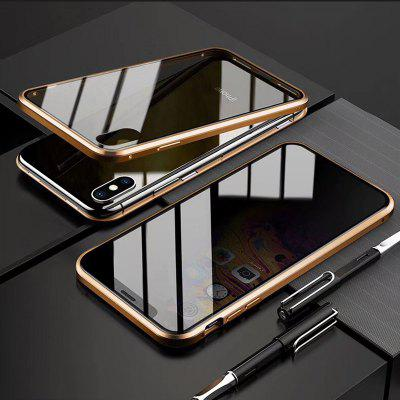 iPhone Case Magnetic Tempered Glass Privacy Metal Phone Case Coque 360 Magnet Antispy Cover For Iphone XR XS X 11 Pro MAX 8 7 6 6s Plus