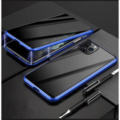 iPhone Case Magnetic Tempered Glass Privacy Metal Phone Coque 360 Magnet Antispy Cover For Iphone XR XS X 11 Pro MAX 8 7 6 6s Plus