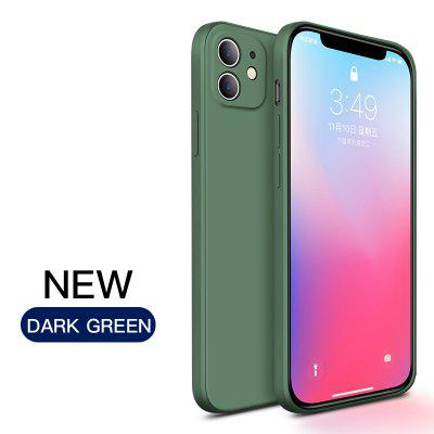 Original Square Liquid Silicone Phone Case For iPhone 11 Pro Max X XR Solid Color Soft Cover on for iPhone 6 6S 7 8 Plus SE 2020