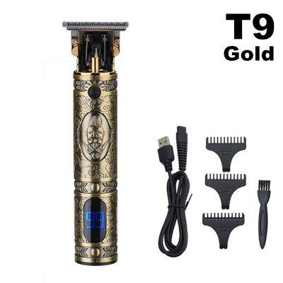 Newest 10w High Power Professional Hair Trimmer Cordless LCD Display Metal Body Clippers Performance Cut Machine for Barber