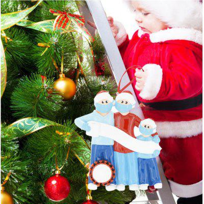 2020 DIY Xmas Christmas Tree Hanging Ornaments Cute Family Personalized Ornament Decor