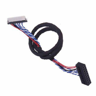 P4-FIX-D6 30P 1CH 6-bit Screen Cable For Universal Notebook Screen LCD Driver Board 25CM