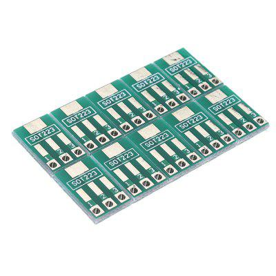 50pcs SOT89SOT223 to SIP Patch Transfer Adapter Board Pitch 2.54mm PCB Tin Plate