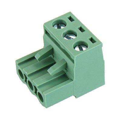 3pcs 2 EDG 5.08mm Pitch 3Pin Plug-in Screw PCB Terminal Block Connector Right Angle