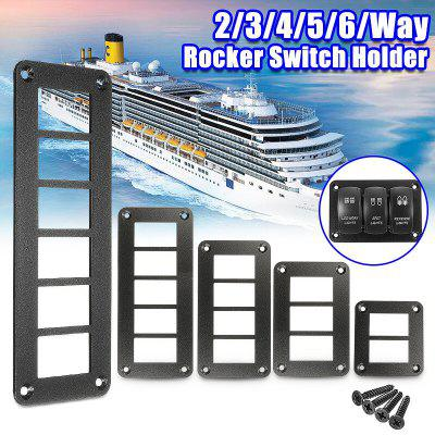 Aluminum Rocker Switch Panel Housing Holder for ARB Carling Narva Boat Type Auto Parts Switches 2Way3Way4Way 5Way 6Way