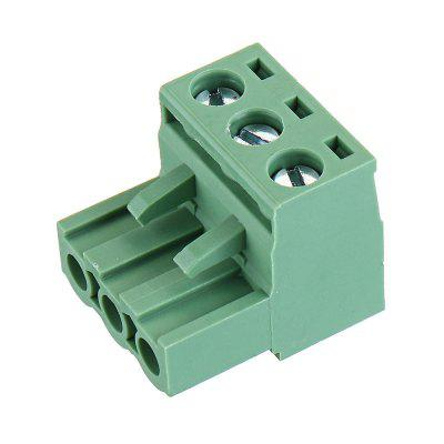 5pcs 2 EDG 5.08mm Pitch 3Pin Plug-in Screw PCB Terminal Block Connector Right Angle