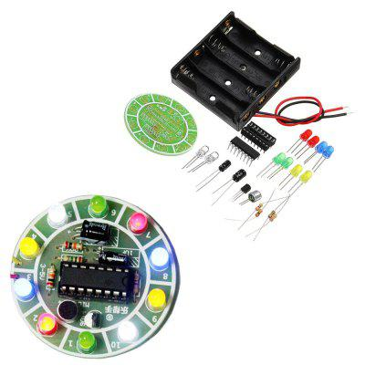 DIY LED Flash Kit Colorful Acoustic Rotating Lamp