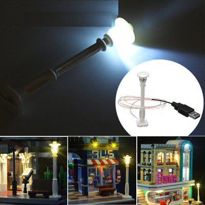 Universal DIY LED White Street Lamp For Lego Streetscape Building Blocks Bricks Toy
