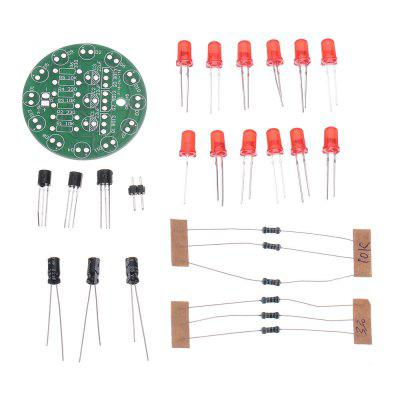 5pcs DIY Red LED Round Flash Electronic Production Kit Component Soldering Training Practice Board