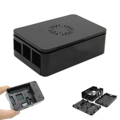 ABS Enclosure Case Support Cooling Fan For Raspberry Pi Model 3B  2B B