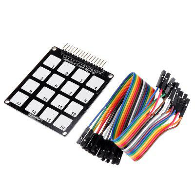 16 Keys Capacitive Touch Key Pad Module RobotDyn for Arduino - products that work with official boards