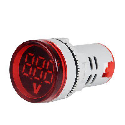 3pcs Red ST16VD 22mm Hole Size 6-100 VDC Digital Voltmeter Round Voltage Detector Tester Mini LED Voltage Indicator Signal Light Monitor multifunction red light stick rod w white led flashlight
