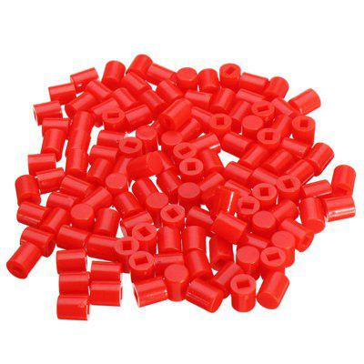 300pcs 6 x 7mm Round Button Cap Hat Suitable For 8.5 8.5mm  8 8mm Series Of Self-locking Switch
