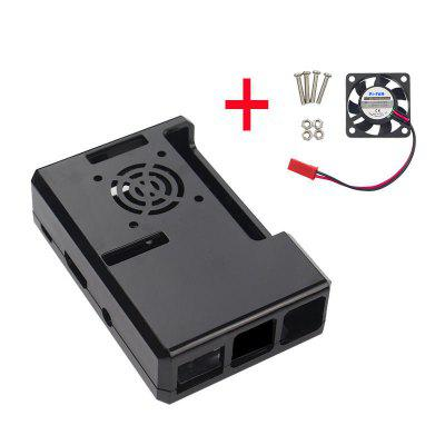 Black ABS Case With Fan Hole  CPU Cooling For Raspberry Pi 32