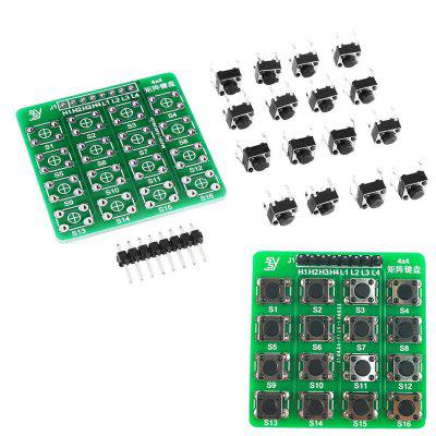 3Pcs 4X4 Matrix Keyboard Tact Touch Switch MCU Learning Board Development Board External Expansion Kit pic18f4520 development board pic development board learning board experimental board