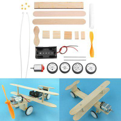 Electric Sliding Aircraft DIY Kit Student Small Invention Manual Material Science Model Toy