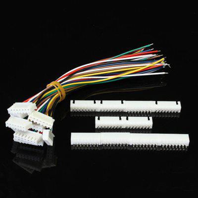 10sets 15cm XH2.54 8Pin 24AWG 1007 Terminal Wire Circuit Board Connecting Cable With Socket
