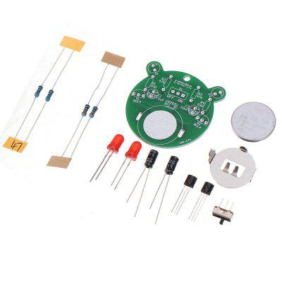 3pcs DIY Electronic Kit Set Cartoon Bear LED Flash Light Production Simple Parts Skill Competition Triode Soldering