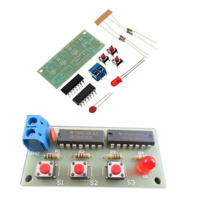 3pcs DIY Three Person Voter Module Kit Electronic Production 74HC0074HC10