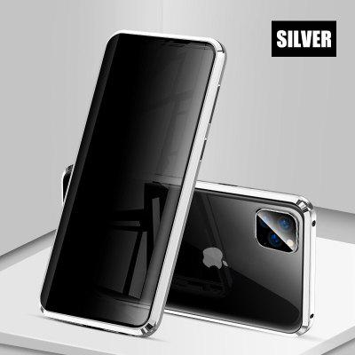 Metal Tempered Glass Magnetic Privacy Case for IPhone 7 8 Plus 11Pro Max 11 XR Xs Xsmax Magnetic Case Anti Peeping Shell