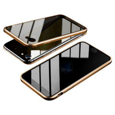 Metal Bumper Magnetic Anti-view Phone Cover for IPhone 7/8 Plus X/XS/XR/XS Max 11 Pro Max Privacy Tempered Glass Screen Cover Protector