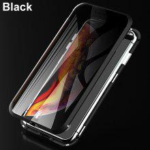 Magnetic Metal Adsorption Privacy 9H Tempered Glass Phone Case for IPhone 11 Pro 7 8 Plus XS Max XS X XR 8 Case Cover