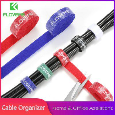 FLOVEME Cable Organizer Wire Winder Holder Earphone Mouse Cord Clip Protector USB Management for Micro Type C