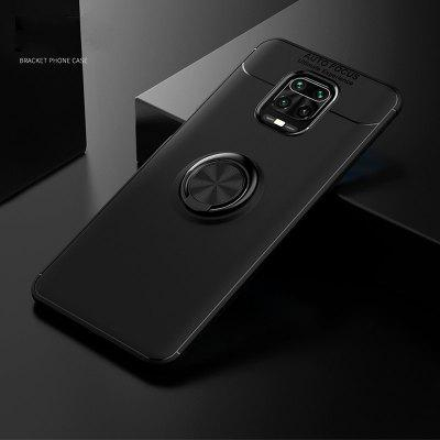 Heavy-Duty Silicone Case for Xiaomi Redmi Note 9 Pro Max Note9 Stand Cases Metal Ring Holder Cover 9S 8T 8 8pro 9C Shockproof