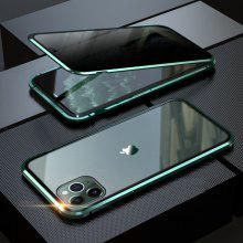 Aibey Magnetic Privacy Metal Phone Case for Iphone 11 Pro MAX 8 7 Plus SE2 XR XS Max Coque 360 Tempered Glass Magnet Cover