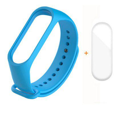 Strap for Xiaomi Mi Band 5 4 3 Silicone Wristband Bracelet Replacement for MiBand 5 4 3 Wrist Color TPU Strap With Screen Protector