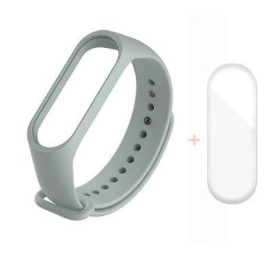 Strap for Xiaomi Mi Band 5 4 3 Silicone Wristband Bracelet Replacement MiBand Wrist Color TPU With Screen Protector