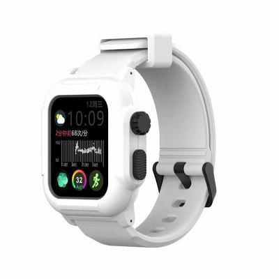 Waterproof Case for Apple Watch Band 4 Iwatch Bands 42mm Silicone Strap 44mm 40mm Pulseira Bracelet Smart Accessories Loop