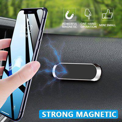 Magnetic Car Phone Holder Dashboard Mini Strip Shape Stand for IPhone Samsung Xiaomi Metal Magnet GPS Mount Wall
