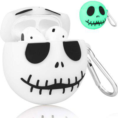 Halloween Luminous Case for Airpods 1/ 2 Pro Cover 3D Cute Cartoon Funny Fun Cool Fashion Silicone with Keychain