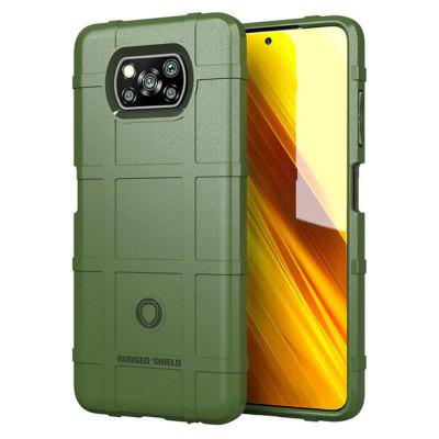 Rugged Shield Silicone Case for Xiaomi Mi Poco X3 NFC Global Version Military Heavy Duty Protect Phone Cover Shockproof