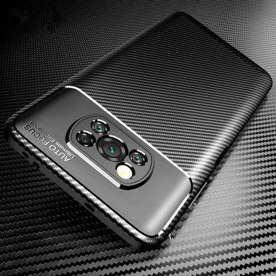 Case Soft Silicon Cover Carbon Fiber for Xiaomi POCO X3 NFC TPU Shockproof F2 Pro 10 Note10 Lite 9T