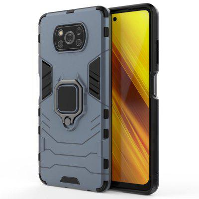 Armor Shockproof Ring Holder Case for Xiaomi POCO X3 NFC Hard PC Soft TPU Hybrid Back Cover Poco F2 Pro