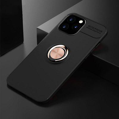 Shockproof Case for IPhone 12 Pro Max Soft Silicone Metal Ring Stand Phone Back Cover Mini IP12 2020 New