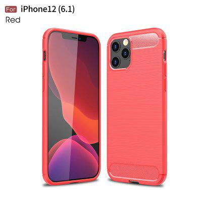 Carbon Fiber Matte Shockproof Case For iPhone 12 12Pro 12Mini 12ProMAx 11 Pro Max 7 8 Plus X XR XS Luxury Ultra Thin Soft Silicone Cover