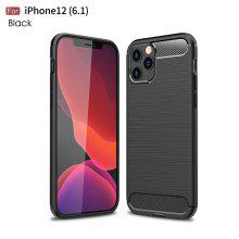 Carbon Fiber Matte Shockproof Case For iPhone 12 12Pro 12Mini 12ProMAx 11 11 Pro Max 7 8 Plus X XR XS Max Luxury Ultra Thin Soft Silicone Cover