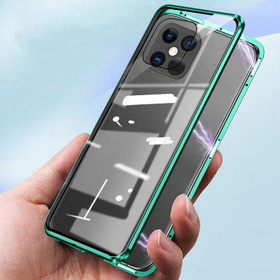 Magnetic Metal Glass Case for IPhone 12 11 Pro XR XS Max 7 8 6 Plus SE 2020 360 Full Protector Double Cover