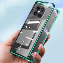 Magnetic Metal Glass Case for IPhone 12 11 Pro XR XS Max for IPhone 7 8 6 Plus SE 2020 360 Full Protector Double Glass Cover